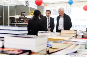 Parliamentary Secretary for Research, Innovation, Youth and Sport, Chris Agius, visits Festival tal-Ktieb.