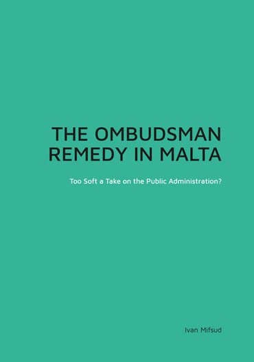 The-Ombudsman-Remedy-in-Malta-BDL Books Cover